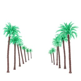 Wholesale Hot Sale Coconut Palm Trees Model for Railroad Layout Landscape Scenery Diorama Miniatures Tree Model Architectural Model