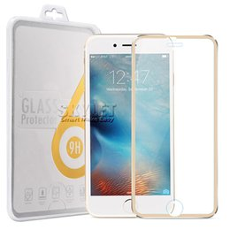 Wholesale Screen Protector For Iphone Plus Rim Tempered Glass Full Cover Screen Film Titanium Alloy mm D H Explosionproof In Retail Package
