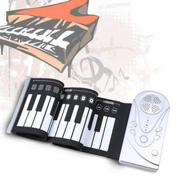 Piano del teclado suave 49 en Línea-Venta al por mayor-Portátil 49 llaves flexibles Roll Up piano electrónico Soft teclado Piano Silicona caucho teclado plástico ABS