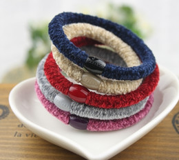 Hair band rope rope rope baseband durable rubber band leather head coat hair accessories bride jewelry backing