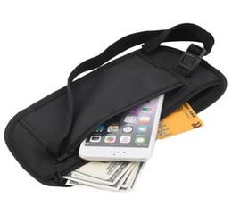 Wholesale 1pcs Hot Worldwide Travel Pouch Zippered taille compact sécurité de l argent ceinture ceinture sacs pour hommes femmes