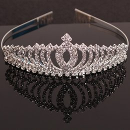 Wholesale 2016 Child Crown Princess cute rhinestone tiara headband girls hair accessories baby girl Korean jewelry Combs