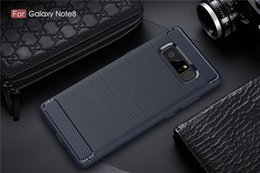 Wholesale Luxury Hybrid Shockproof Carbon Fiber Texture Brushed Soft Silicon Case for note8 Bumper Back Cover