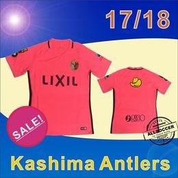 Camisetas de fútbol de color rosa en Línea-2017 J. Liga Kashima Antlers lejos jersey de fútbol rosado, camiseta tailandesa de fútbol 16/17 Maillot De Foot Fútbol camisas