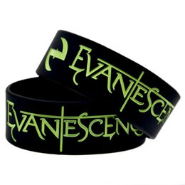 Wholesale 50PCS Lot 1 Inch Wide Bracelet Evanescence Rock Style Band Silicone Wristband For Music Fans