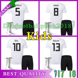 AAA+ Best Quality 2018 home kids soccer jerseys MULLER OZIL GOTZE REUS KROOS HUMMELS 18 white Children kit customize jersey shir