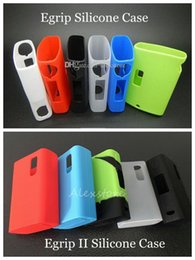 Wholesale Egrip II Silicone Cases Egrip Silicon Case Colorful Rubber Sleeve Protective Cover Skin Enclosure for Joyetech E grip v2 OLED Box Mods