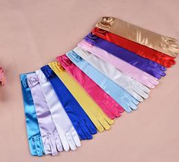 Wholesale 11 Colors Cartoon Girls Long Gloves Elsa Princess Girls Ladies Fancy Gloves Christmas Birthday Children Kids Gift C483
