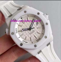 Compra Online Cerámica blanca reloj de pulsera-2017 pulsera de goma costa afuera de lujo de la pulsera reloj mecánico del RELOJ del HOMBRE del bisel de cerámica blanco