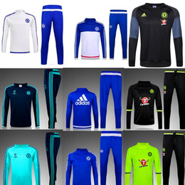 Wholesale 3 a Best quality Chelsea real Madrid soccer tracksuit chandal football tracksuit training suit skinny pants Sportsw