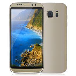 Pouces 1gb en Ligne-2017 Nouveau Goophone S8 EDGE 1: 1 Clone 3G WCDMA Quad Core MTK6580 1 Go 8 Go 5,5 pouces IPS 1280 * 720 HD Android 6.0 GPS WiFi 8.0MP Appareil photo Smartphone
