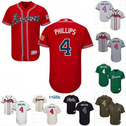 Wholesale Brandon Phillips Jersey Men s Atlanta Braves New Arrival Brandon Phillips Stitched Embroidery Logos Baseball Jerseys