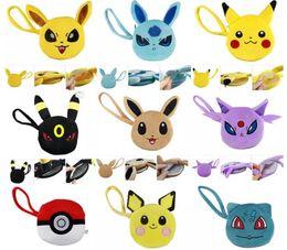 Acheter en ligne Enfants de bande dessinée étudiants sacs-Fashion 9 Designs Lovely Cartoon Pikachu Coin Bag plush Kids Student Purse