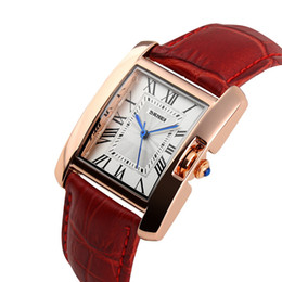 SKmei luxury fashion ladies business watch quartzRectangular dial waterproof wristwatch strap for free delivery
