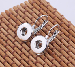 Metal snap alloy doll dangles earrings Interchangeable Snap Buttons Earrings Fit 12 mm Ginger Snap Earring Jewelry