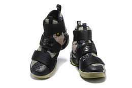 Wholesale Cheap LeBron Soldier SFG Camo Basketball Shoes Black Bamboo Medium Olive Sneakers