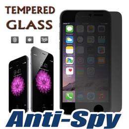 Écrans 4s en Ligne-9H Dureté Premium Privacy Shield Anti-Spy Protecteur d'écran en verre tempéré réel Protection protectrice de film pour iPhone 7 Plus 6 6S 5 5S 4 4S