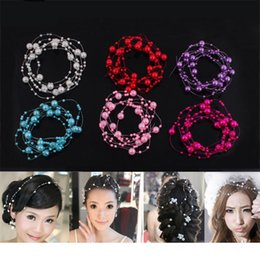 Wholesale Plastic Wired Pearl Bead Garland Party Hair Wedding Centerpiece Bouquet Flower Table Decorations DIY Accessories m Roll mm mm