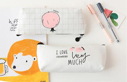 Canvas Pencil pouch Pen Pouch Canvas Zipper Pen Bag Wholesale 2016