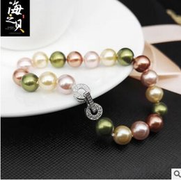 Halloween Natural bead pearl bracelet 925 silver buckle mixed DIY hand hand string 10mm