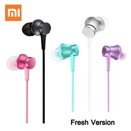 Original Xiaomi Mi Piston Earphone Headphones Headset Basic Edition With Wired Control & Mic for iPhone Samsung Android Phones