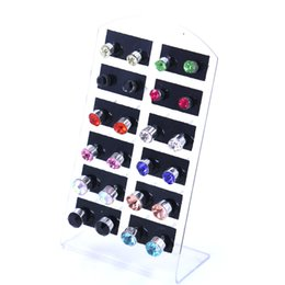 Wholesale - - Fashion Jewellery mixed 12 Pr X Crystal Earring silver plated Stud earring