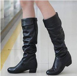 2018 Warm Boots Fashion Autumn Winter Thigh High Boots Women Martin Boots