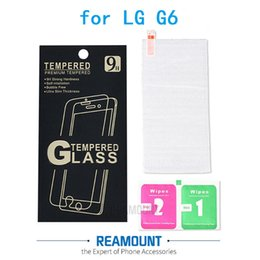 9H Tempered Glass Film Explosion Proof Screen Protector for LG G6 Toughened Protective Film with Retail Paper Packaging Box