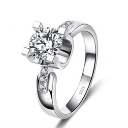 Visisap White Gold color rings cubic zircon bague romantic Jewelry Rings For Women wedding engagement Ring jewelry VSR103