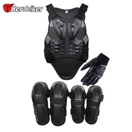Wholesale HEROBIKER Motorcycles body armor Motorcycle Knee Guards Moto Racing Gloves with a reflecting strip motorcycle vest Back Support