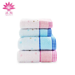 muchun Brand Embroidered With Satin Towel 100% Natural Cotton Fabric Soft Washcloth Shower Cleaning Towel Absorbent Textiles Free Shipping