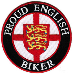 Hot Sale! PROUD ENGLISH BIKER EMBROIDERED PATCH IRON SWE ON T-shit OR JACKET BAG HAT CAP ECT HIGH QUANLITY