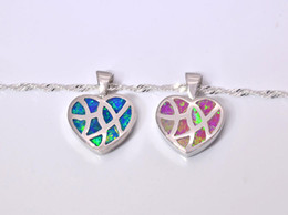 Wholesale & Retail Fashion Jewelry Fine Blue&Pink Fire Opal Stone Silver Plated Pendants For Women PJ16011013