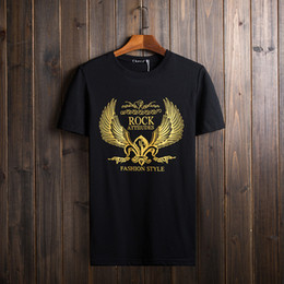 Wholesale Men T Shirts Short Sleeve Summer Clothing Golden Eagle Printed Tops Tees Big Size Clothes Casual T Shirts Promotion XL XL