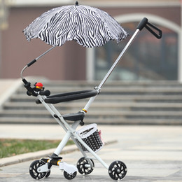Wholesales Tricycle Baby stroller Folding baby Tricycle Super light baby-car Aluminum alloy simple portable folding bicycle for children