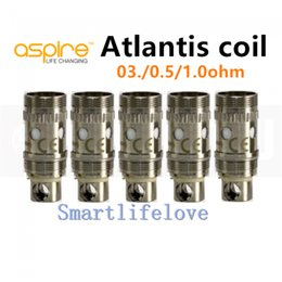 Descuento aspire atlantis mega Auténtico gran stock Aspire Atlantis bobina cabeza 0,3 ohm 0.5ohm 1.0ohm para Aspire Atlantis V2 Mega atomizador e cigarrillo