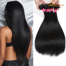 4 Bundles Peruvian Virgin Hair Straight Gaga Queen Soft 100% Unprocessed Human Hair Weaves Peruvian Straight Hair Extensions