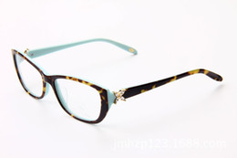 Wholesale Brand Glasses Vintage Crystal Decration Eyewear Brand Designer Women Luxury Glasses Frame Clear Lens TF2044 Eyeglasses Frame