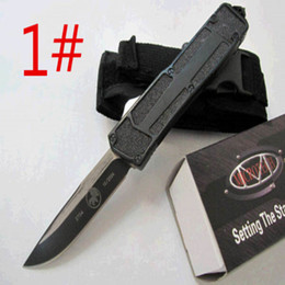 Wholesale HIght Recommend microtech scarab models optional Hunting Folding Pocket Knife Survival Knife Xmas gift for men fox D2 freeshipping