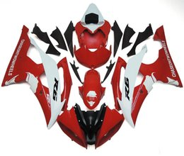 Wholesale New Free Gifts Injection ABS Fairing Kits for YZF600 R6 YZF R6 R6 YZF R6 nice red white