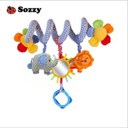 Wholesale 16cm New Hot Sell Lion Cot Hanging Rattle Baby soft toys with music for baby s gift EMS