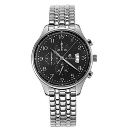 2017 Sale New Mens Watch Fashion Watches Steel Quartz Belt Unisex Black Disc Calendar Baolilong Card Three Eyes Chronograph free Shipping