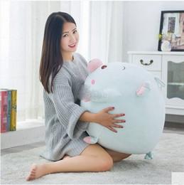 Х большой для продажи-55см X 50см Прекрасный мягкий мультфильм Свинья плюшевые подушки Большое животное Свиньи мягкая игрушка Подушка Рождественский подарок