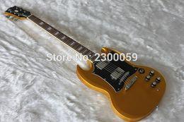 2017 cuerpo sg Venta al por mayor - soporte al por mayor de productos personalizados guitarra SG guitarra eléctrica de caoba de color cuerpo de oro cuerpo sg outlet