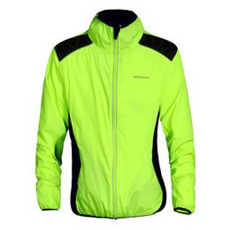 Compra Online Camisa de potencia-WOSAWE hombres resistentes al agua chaqueta de ciclismo jersey ropa deportiva manga larga abrigo de viento transpirable ligero alta visibilidad chaqueta BC240