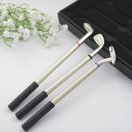 Balles de golf promotionnelles en Ligne-Papeterie cadeaux cadeaux d'affaires cadeaux de golf ensembles promotionnels cadeaux stylo à bille noir rouge et bleu couleur boîte cadeau emballage B-001 style