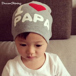 Wholesale The Spring And Autumn Period And The Male And Female Baby Formula Is The Head Spring Baby Hat I Iove Mother Children s Hat