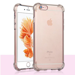 For iPhone X 10 8 7 6S Plus ShockProof Gasbag Corner Full Body Crystal Transparent Clear Soft Flexible TPU Case Cover For Samsung Note 8 S8