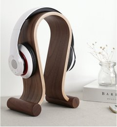 Wooden Gaming Headset Earphone Headphone Display Stand Holder Solid Hanger Rack