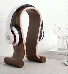 Wooden Gaming Headset Earphone Headphone Display Stand Holder Solid Hanger Rack